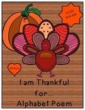 Thanksgiving Alphabet Poem Writing/Speaking and Listening
