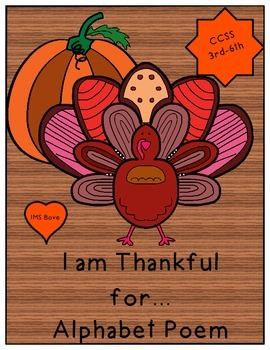 Thanksgiving Alphabet Poem Writing/Speaking and Listening