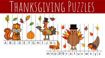 Thanksgiving Alphabet Puzzles