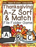 Thanksgiving Alphabet Sort & Match File Folder Game