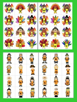 Thanksgiving FREE Literacy Centers - ABC and 123!  Matching and Sequencing