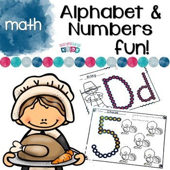 Alphabet and Number Practice with Thanksgiving Theme