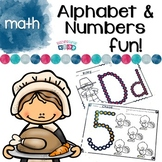Thanksgiving Alphabet and Number Practice