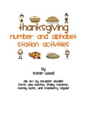 Thanksgiving Alphabet and Number Station Activities