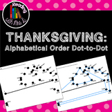 Thanksgiving Alphabetical Order Dot to Dot Puzzle