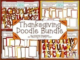 Thanksgiving Alphabets, Borders, and Papers Bundle Clip Ar