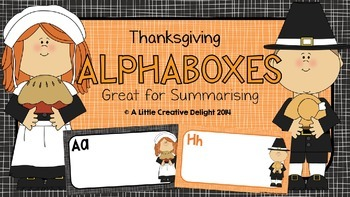 Thanksgiving Alphaboxes