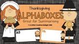 Thanksgiving Alphaboxes