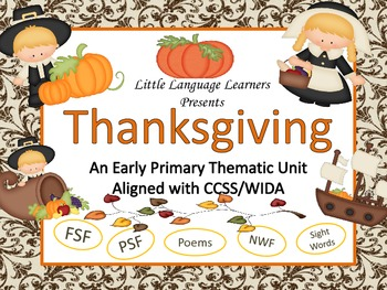 Thanksgiving-Vocabulary/Concept Development- ELL Newcomers Too