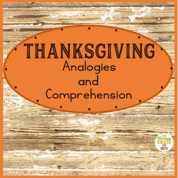 Thanksgiving Analogies and Comprehension