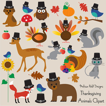 Clipart Thanksgiving Animals Clip Art