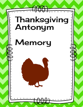 Thanksgiving Antonym Memory