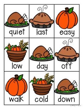 Thanksgiving Antonyms Match