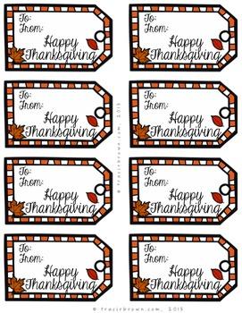 Thanksgiving Appreciation Gift Tags