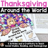 Thanksgiving Around the World: A Week-Long Study and Craftivity for Grades 3-5