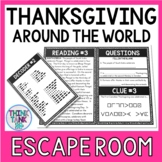 Thanksgiving Around the World Escape Room Activity