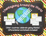 Thanksgiving Around the World FREEBIE