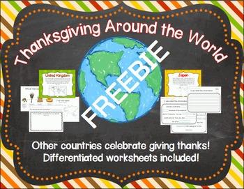 Thanksgiving Around the World FREEBIE
