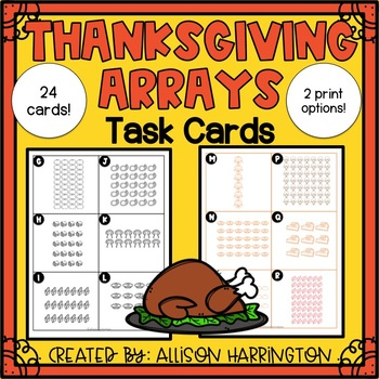 Thanksgiving Array Task Cards