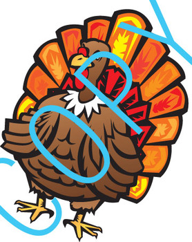 Thanksgiving Art (Bl&Wh & Color)
