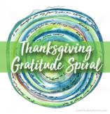 Thanksgiving Art Lesson or Gratitude Spiral