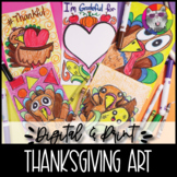 Thanksgiving Art Lessons Booklet, Distance Learning {DIGIT
