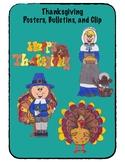 Thanksgiving Art - Posters, Bulletins, Clip Art