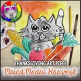 Thanksgiving Art Lesson, Mixed Media Harvest Art Project