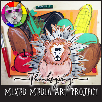 Thanksgiving Art Project, Mixed Media Porcupine