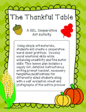 Thanksgiving Art Project. Thankful Table Mural