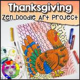 Thanksgiving Art Project, Zentangle Turkey