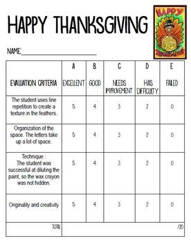 Thanksgiving : Art project