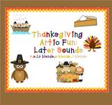 Thanksgiving Artic Fun: Later Sounds (r,s,l,r blends,s blends,l blends)