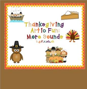 Thanksgiving Artic Fun: More Sounds (k,g,f,v,sh,ch)