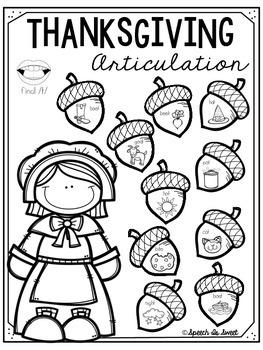Thanksgiving Articulation