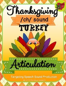 Thanksgiving Articulation Activity - Ch Sound!