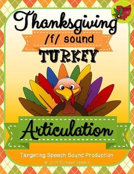 Thanksgiving Articulation Activity - F Sound!