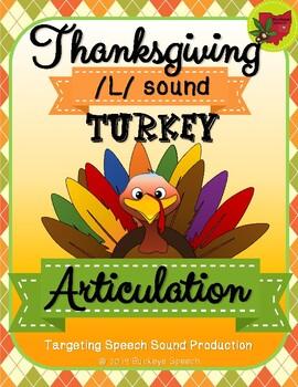 Thanksgiving Articulation Activity - L Sound!