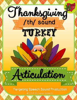 Thanksgiving Articulation Activity - th Sound!