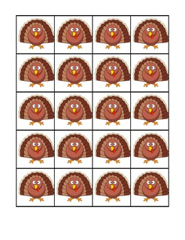 Thanksgiving Articulation Counters