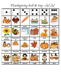 Thanksgiving Articulation Dice Roll (S, Z)