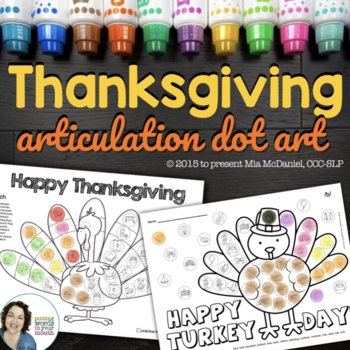 Thanksgiving Dot Art {No Prep!}
