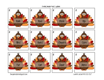 Thanksgiving Articulation Game