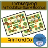 Thanksgiving Articulation Game Boards
