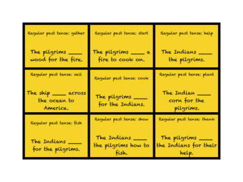 Thanksgiving Articulation, Grammar, and Vocabulary Game