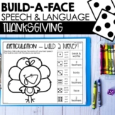 Thanksgiving Articulation & Language BUILD-A-FACE