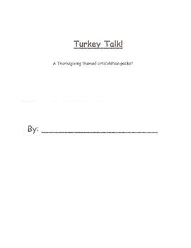 Thanksgiving Articulation Packet