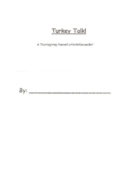 Thanksgiving Articulation Packet
