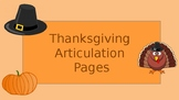 Thanksgiving Articulation Pages