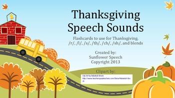 Thanksgiving Articulation Sound Cards